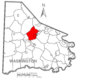 Chartiers Township, Washington County, Pennsylvania - Image: Map of Chartiers Township, Washington County, Pennsylvania Highlighted