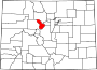 Map of Colorado highlighting Summit County.svg