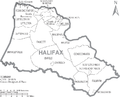 Map of Halifax County North Carolina With Municipal and Township Labels.PNG