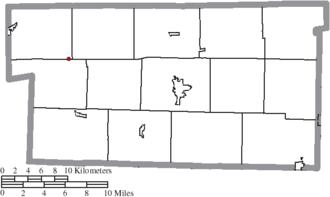 Nashville, Ohio - Image: Map of Holmes County Ohio Highlighting Nashville Village