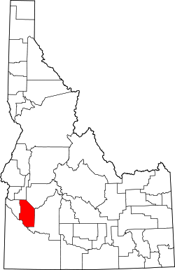 Map of Idaho highlighting Ada County.svg