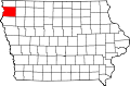Map of Iowa highlighting Sioux County.svg