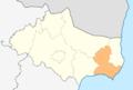 Map of Kavarna municipality (Dobrich Province).png