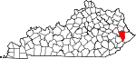 State map highlighting Floyd County