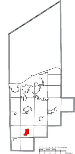 Location of Wellington in Lorain County