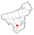 Map of Middletown, Northampton County, Pennsylvania Highlighted.png