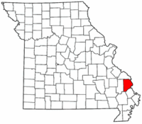 Map of Missouri highlighting Cape Girardeau County.png