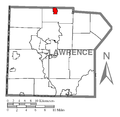 Map of New Wilmington, Lawrence County, Pennsylvania Highlighted.png