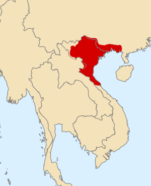Early Lý dynasty - Map of Vạn Xuân kingdom