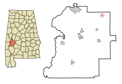 Location in Quận Marengo, Alabama
