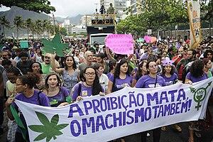 Global Marijuana March - Rio de Janeiro, Brazil. May 10, 2014. Marcha da maconha.