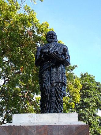 Kambar (poet) - Statue of Kambar in Marina Beach