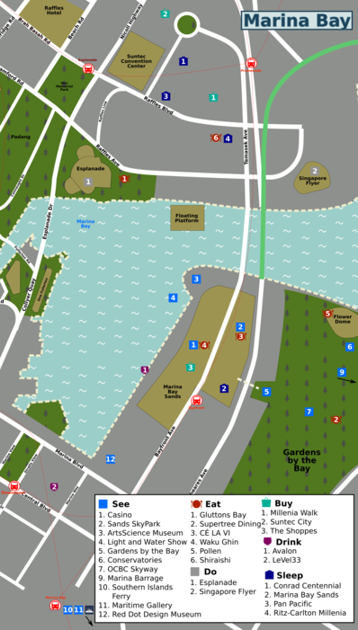 Marina Bay Singapore Map