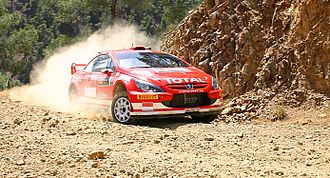 Markko Märtin - Märtin with a Peugeot 307 WRC at the 2005 Cyprus Rally.