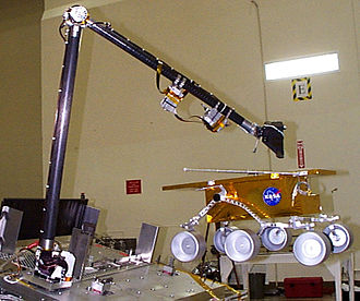 Mars rover - Mock-up of canceled Mars Surveyor 2001 rover, tabled after the triple failure of Mars Polar Lander, Deep Space 2, and Mars Climate Orbiter in the late 1990s