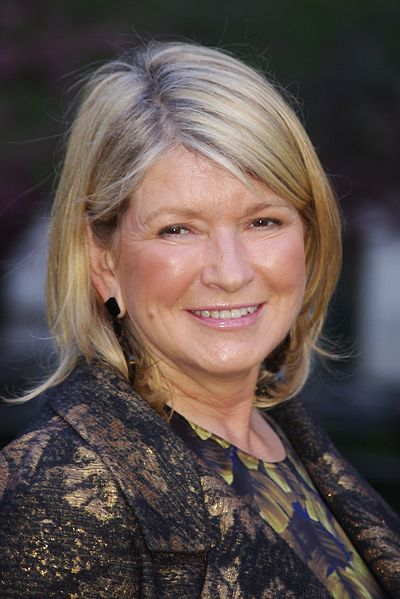 Martha Stewart, American businesswoman, writer, television personality, and former fashion model