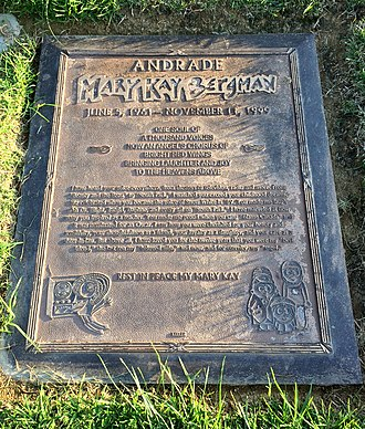 Mary Kay Bergman - Grave of Mary Kay Bergman, at Forest Lawn Memorial Park (Hollywood Hills)