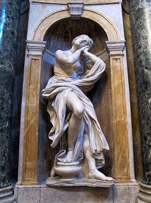 Saints Jerome and Mary Magdalen (Bernini) - Image: Mary Magdalen by Bernini