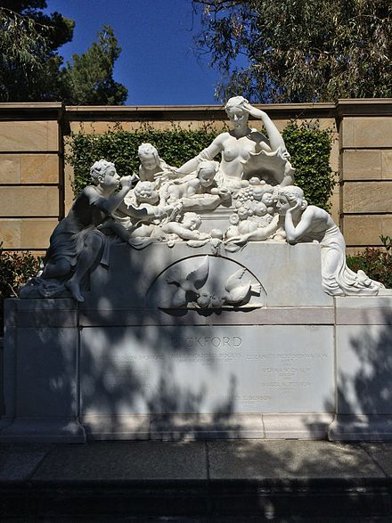 The tomb of actress Mary Pickford in the Garden of Memory, Forest Lawn Glendale Mary Pickford Tomb.JPG