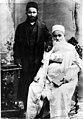 Mashiach Gul and Daniel Gul president of Afghan Jewish community in Palestine, 1917.jpg