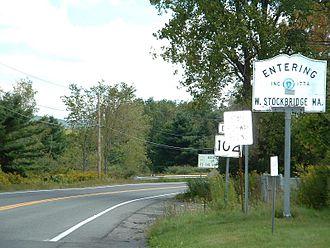 West Stockbridge, Massachusetts - The Massachusetts state line along Route 102