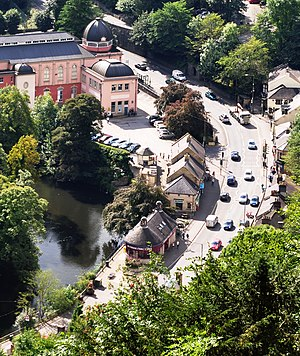Heights of Abraham - Matlock Bath seen from the from Heights of Abraham