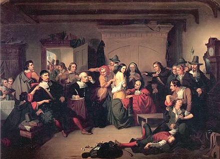 Examination of a Witch (1853) by T. H. Matteson, inspired by the Salem trials Matteson-witch.jpg