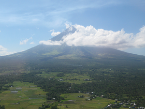 English: Mayon volcano as of 20 May, 2010, Thu...
