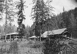 McCredie Springs Resort and sawmill in 1910