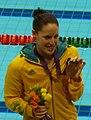 Medallistas de los 100m mariposa femenino en Londres 2012-2 (Alicia Coutts cropped).jpg