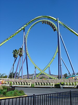 Giant Bomb - Six Flags Discovery Kingdom; The Medusa's vertical loop