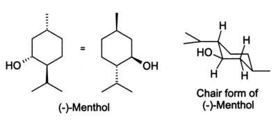 Menthol chair conformation