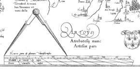 Barra de escala em um mapa Mercator