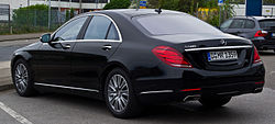 Mercedes-Benz S 500 (W 222) – Heckansicht, 6. April 2014, Neuss.jpg