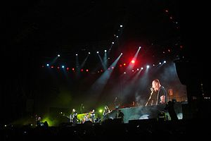 World Magnetic Tour - Metallica performing at Estadio San Marcos (World Magnetic Tour) in Lima, Peru