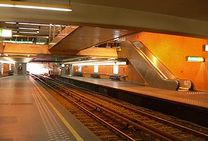 Thieffry metro station - Image: Metro Brussel Thieffry