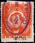 Mexico 1881 documents revenue F87A Colima.jpg