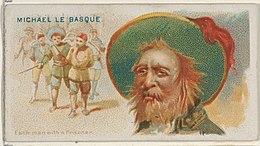Michael Le Basque, Each Man with a Prisoner, from the Pirates of the Spanish Main series (N19) for Allen & Ginter Cigarettes MET DP835015.jpg