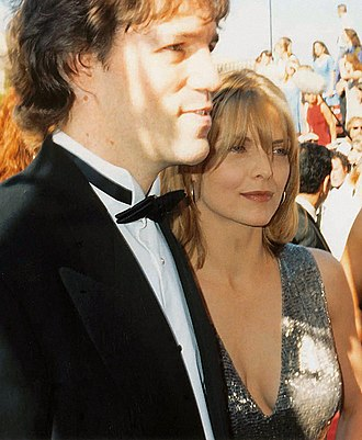 David E. Kelley - Kelley and Michelle Pfeiffer at the 47th Primetime Emmy Awards in 1994