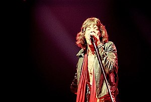 English: Mick Jagger of the Rolling Stones NYC...