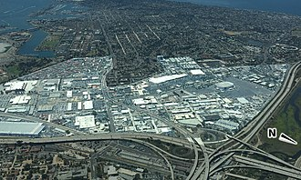 Midway, San Diego - Aerial image of Midway District. Dimmed areas include Old Town, Loma Portal, Liberty Station, Point Loma, and the San Diego River.
