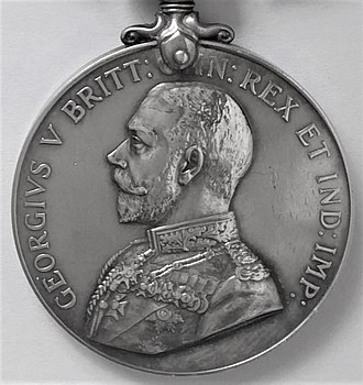 Africa General Service Medal - Image: Military Medal, close up of disc
