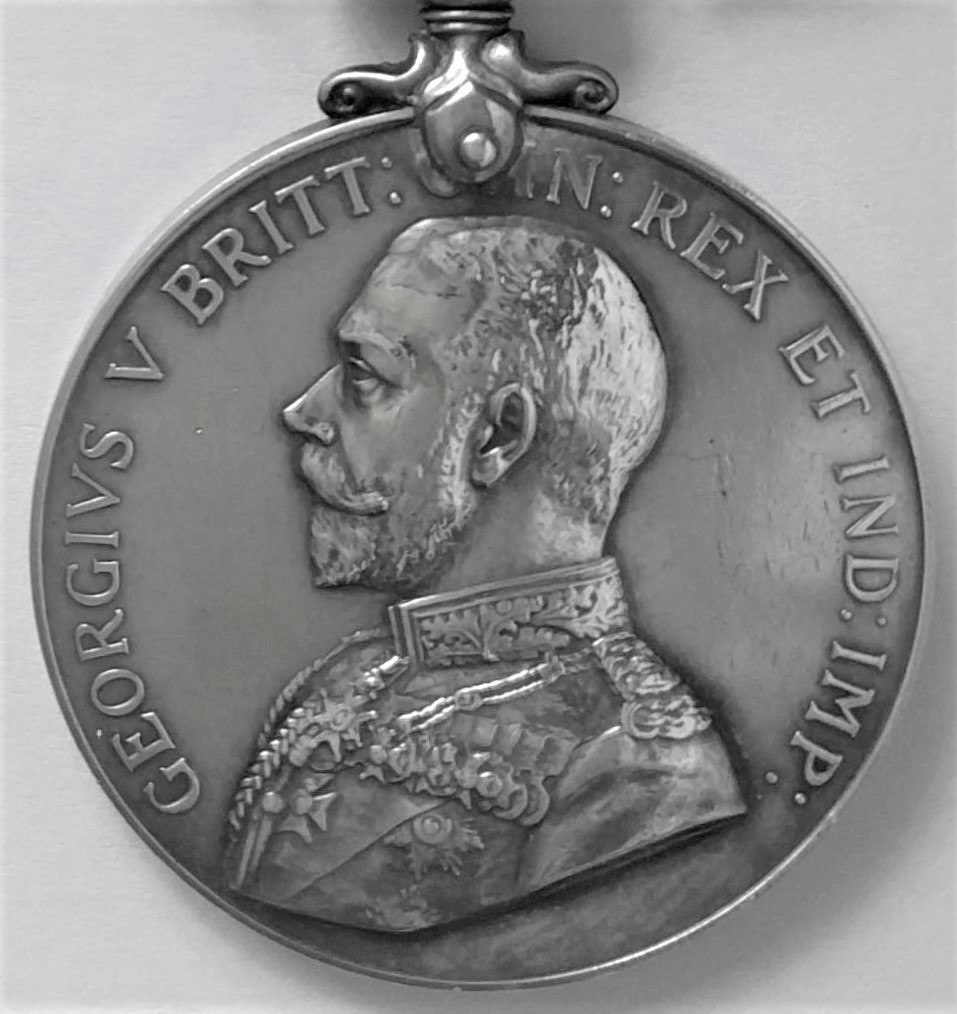 Military Medal, close up of disc