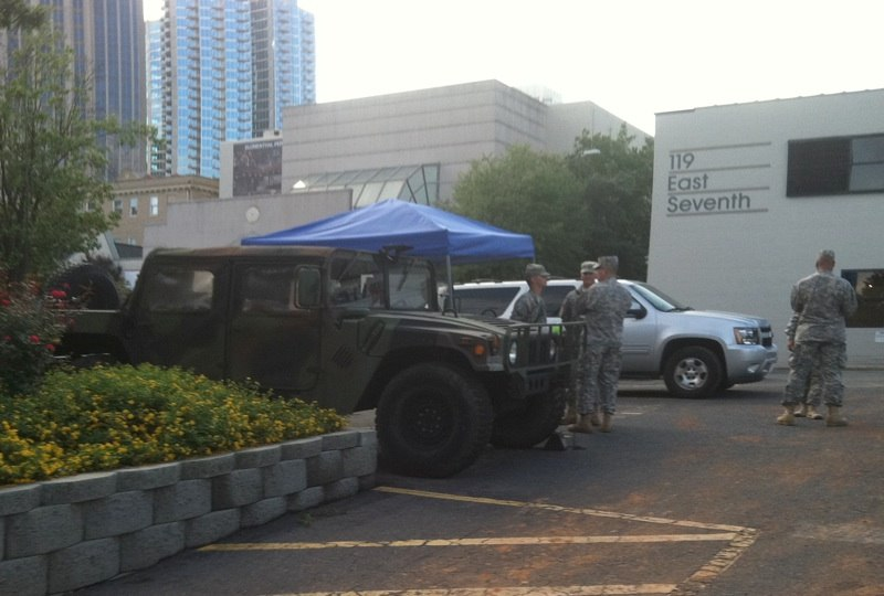 Military Patrol at DNC in Charlotte (7949502058)