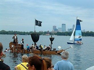 Minneapolis Aquatennial - Image: Milk Carton Boat Race Minneapolis 2005 07 24