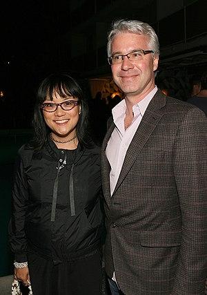 Stephen Hegyes - Hegyes with filmmaker Mina Shum in 2011