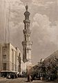 Minaret of the principal mosque at Siout. Coloured lithograp Wellcome V0049370.jpg