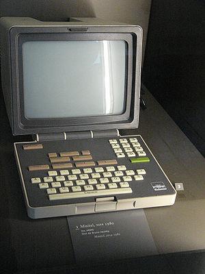 Minitel - 1980 Alcatel Minitel terminal with non-AZERTY keyboard