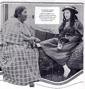 Minnie Devereaux - Devereaux and Mabel Normand. From the Mack Sennett Weekly, 1917