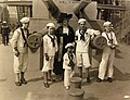 Miss O. Harriman and young sailors on board USS Recruit, New York, 1917-1920 (20212162496).jpg